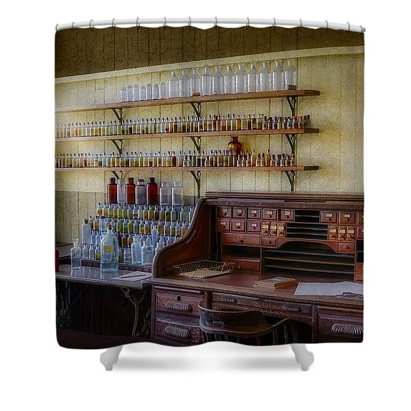Scientist Office Shower Curtain by Susan Candelario