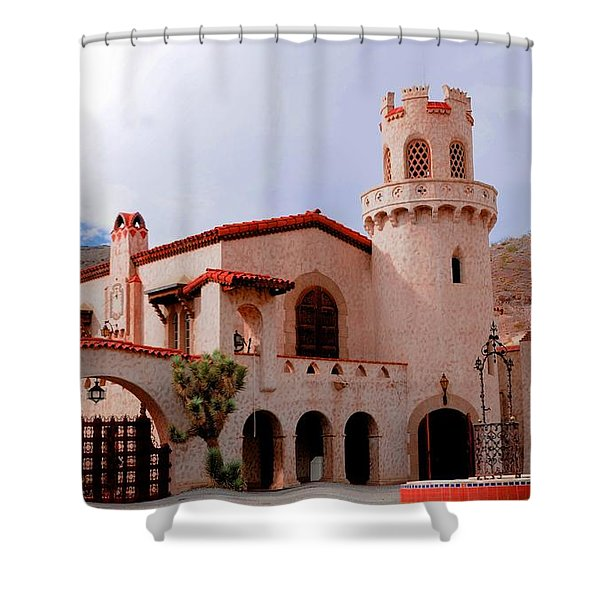 Scotty's Castle Shower Curtain by Kathleen Struckle