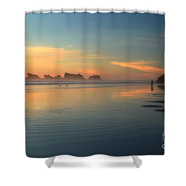 Sea Stack Photographer Shower Curtain by Adam Jewell