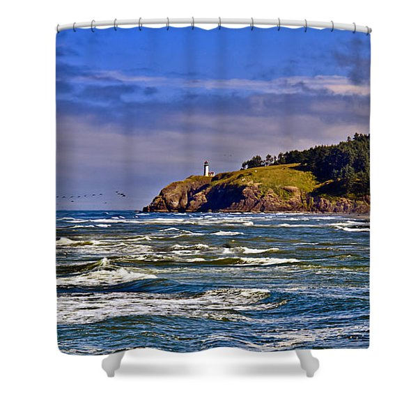 Seacape Shower Curtain by Robert Bales