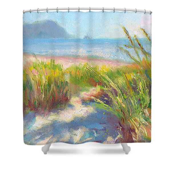 Seaside Afternoon Shower Curtain by Talya Johnson