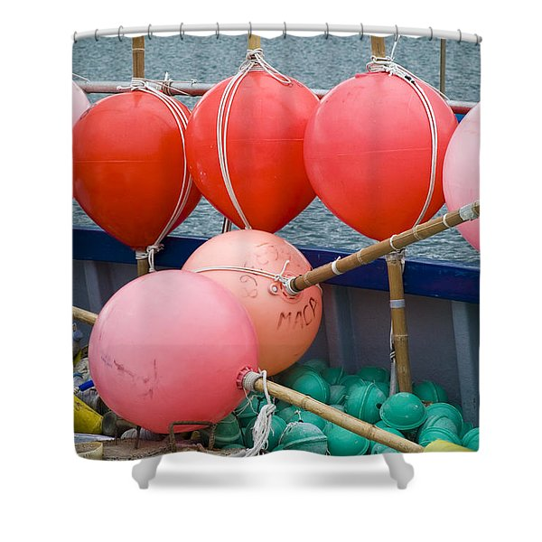 Seaside Colors Shower Curtain by Frank Tschakert