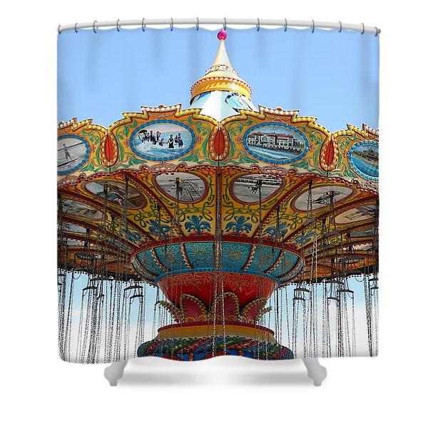 Seaswings At Santa Cruz California 5D23888 Shower Curtain by Wingsdomain Art and Photography