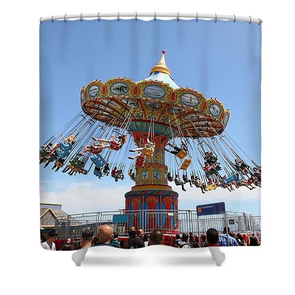 Seaswings At Santa Cruz California 5D23894 Shower Curtain by Wingsdomain Art and Photography