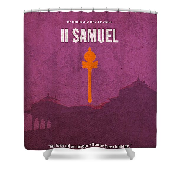 Second Samuel Books of the Bible Series Old Testament Minimal Poster Art Number 10 Shower Curtain by Design Turnpike