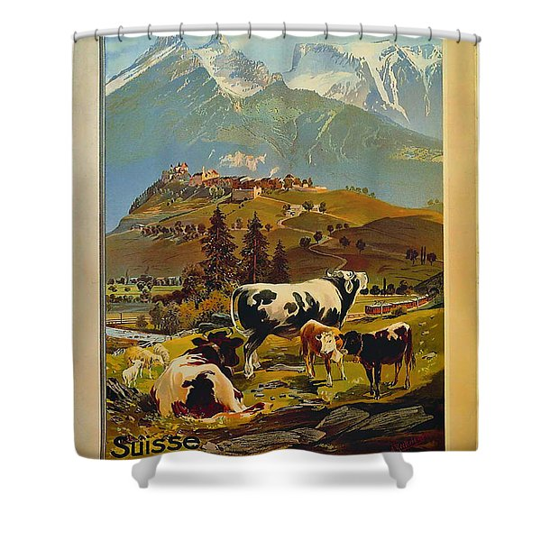 See Switzerland 1906 Shower Curtain by Mountain Dreams