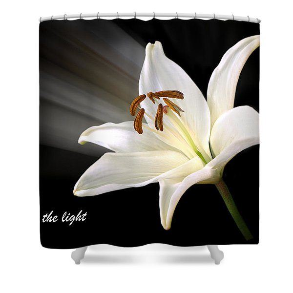 See The Light Shower Curtain by Gill Billington