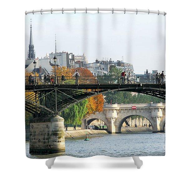Seine bridges in Paris Shower Curtain by Elena Elisseeva