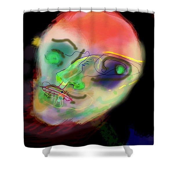 self development 2 Shower Curtain by David Baruch Wolk