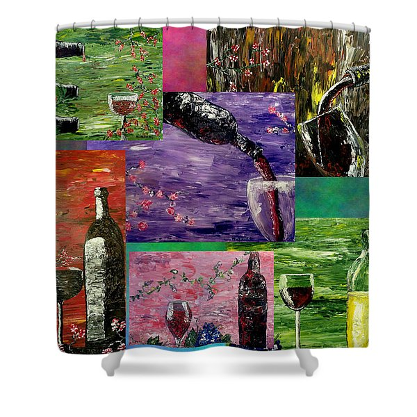 Sensual Wine  Shower Curtain by Mark Moore