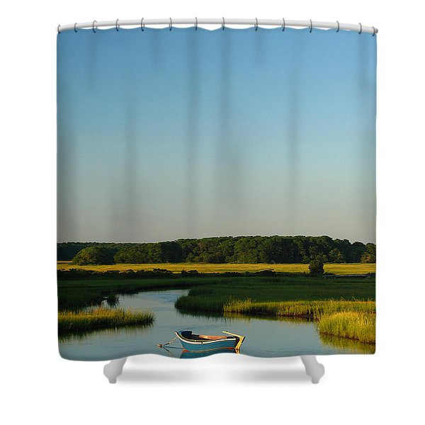 Serene Cape Cod Shower Curtain by Juergen Roth