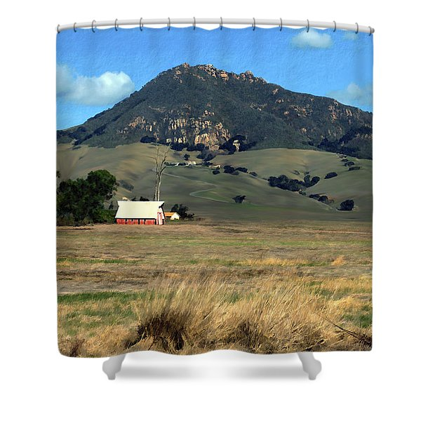 Serenity under Bishops Peak Shower Curtain by Kurt Van Wagner