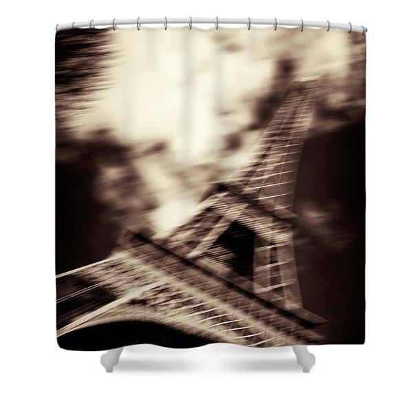 Shades of Paris Shower Curtain by Dave Bowman