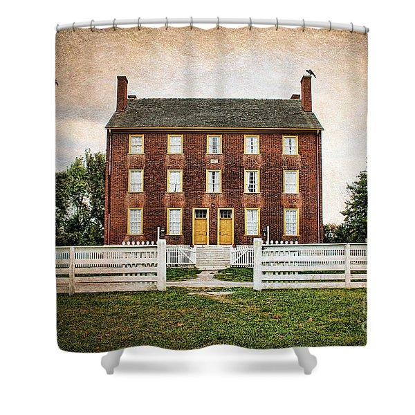 Shaker Village  Shower Curtain by Darren Fisher