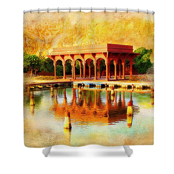 Shalimar Gardens Shower Curtain by Catf