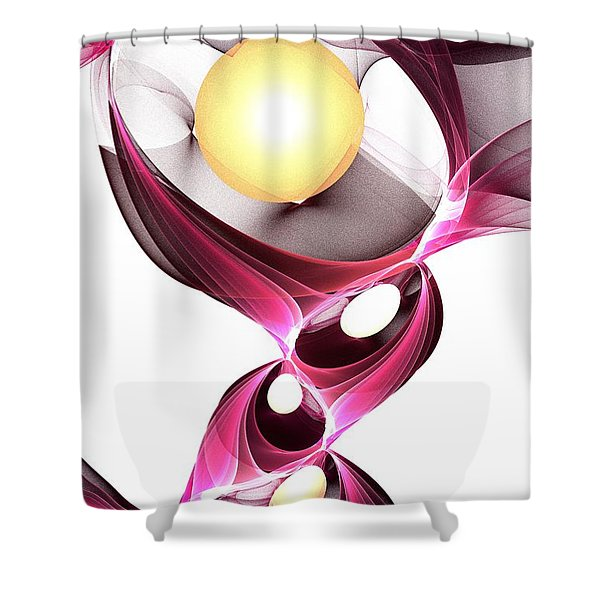 Shape-shifter Shower Curtain by Anastasiya Malakhova