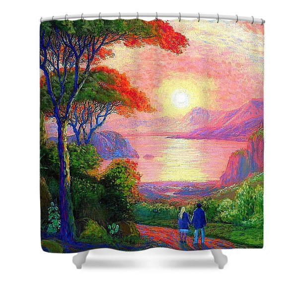 Sharing The Journey Shower Curtain by Jane Small