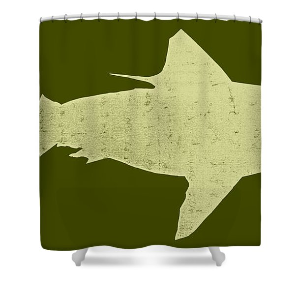 Shark Shower Curtain by Michelle Calkins