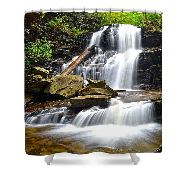 Shawnee Falls Shower Curtain by Frozen in Time Fine Art Photography
