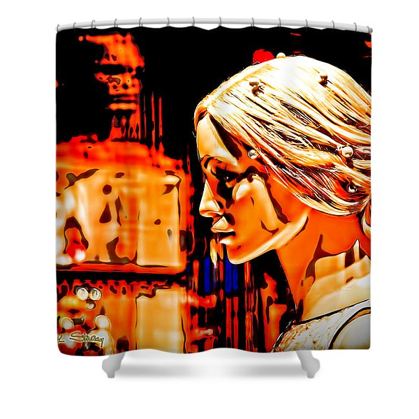 She-devil Shower Curtain by Chuck Staley