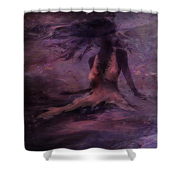 She Is The Wind Shower Curtain by Rachel Christine Nowicki