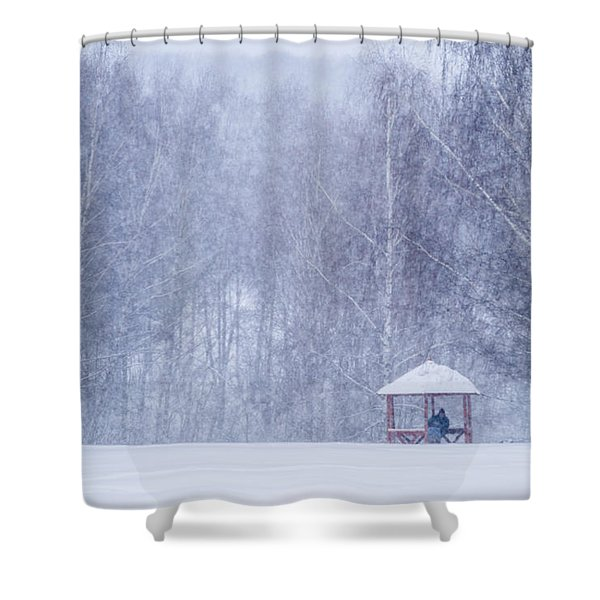 Shelter In The Storm - Featured 3 Shower Curtain by Alexander Senin