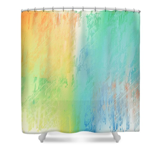 Sherbet Abstract Shower Curtain by Andee Design