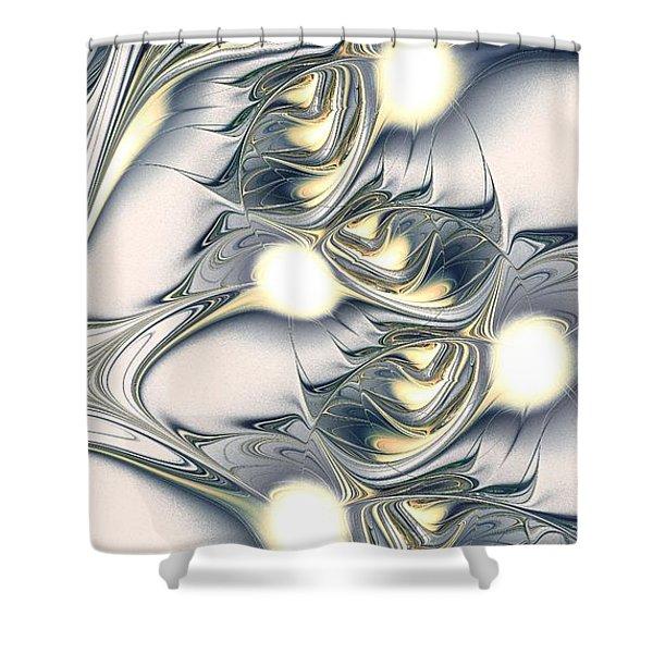 Shining Shower Curtain by Anastasiya Malakhova