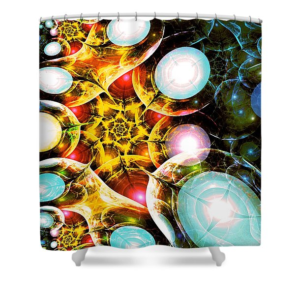 Shining Colors Shower Curtain by Anastasiya Malakhova