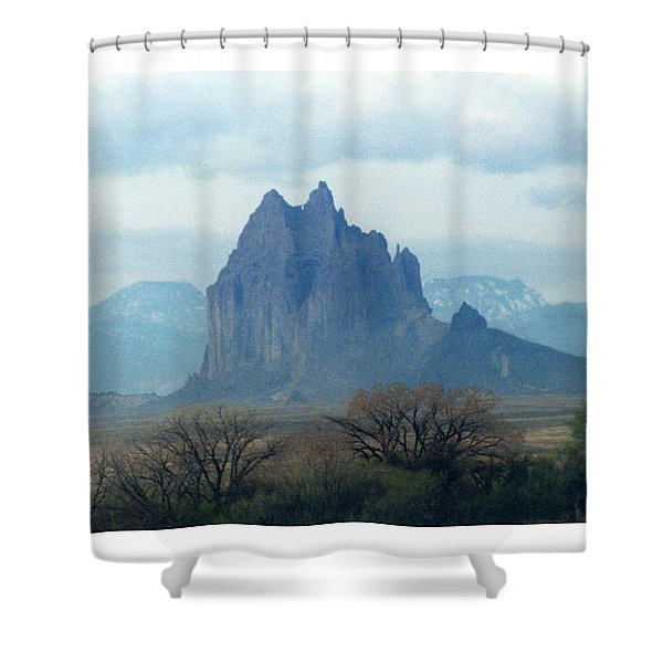 Shiprock  Mystical Mountain New Mexico Shower Curtain by Jack Pumphrey