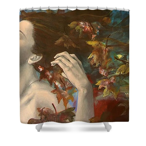 Shivers Shower Curtain by Dorina  Costras