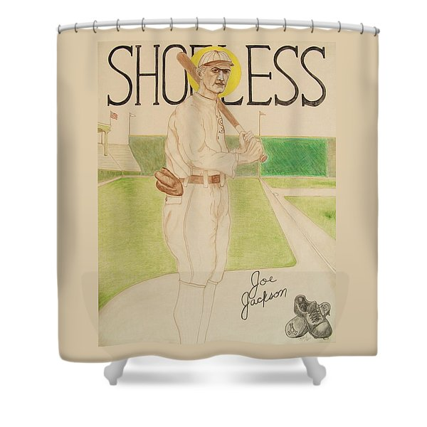Shoeless Joe Jackson Shower Curtain by Rand Swift