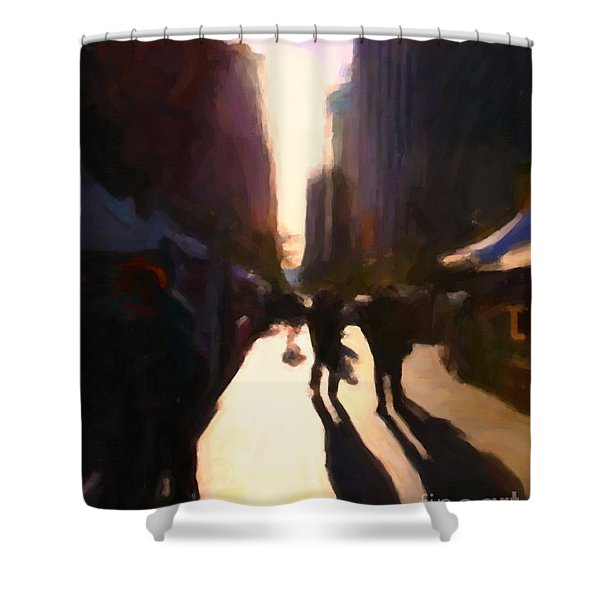 Shopping Stands Along Market Street at San Francisco's Embarcadero - 5D20841 v2 Shower Curtain by Wingsdomain Art and Photography