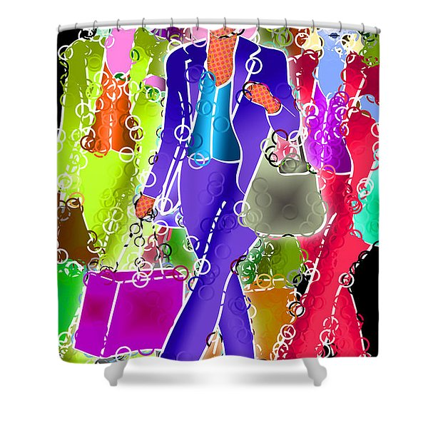 Shopping Shower Curtain by Stephen Younts