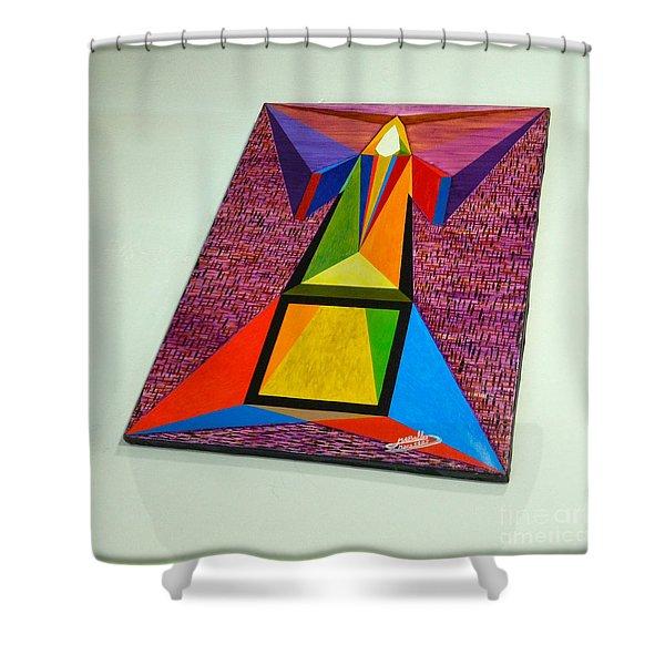 Shot Shift - Liberte 2 Shower Curtain by Michael Bellon