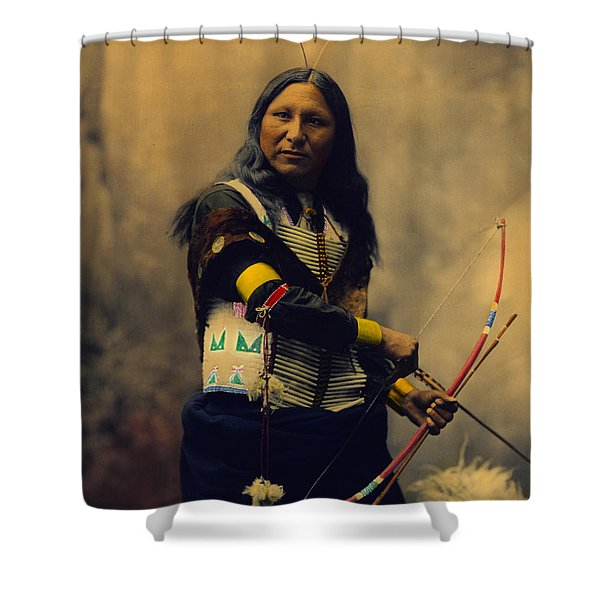 Shout At Oglala Sioux  Shower Curtain by Heyn Photo