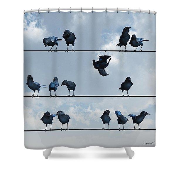 Show Off Shower Curtain by Cynthia Decker