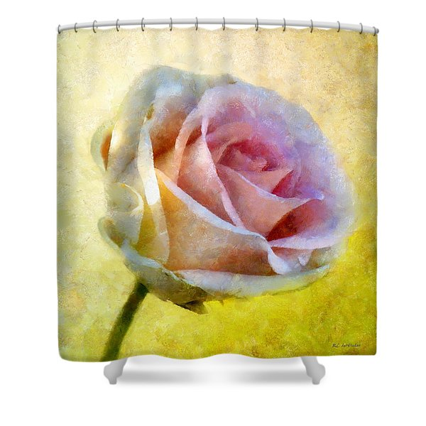 Shy Underneath Shower Curtain by RC DeWinter