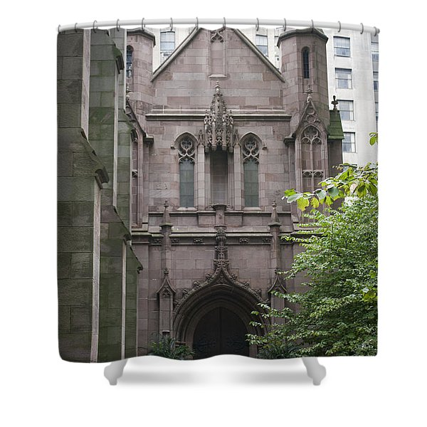 Side Entrance Shower Curtain by Teresa Mucha