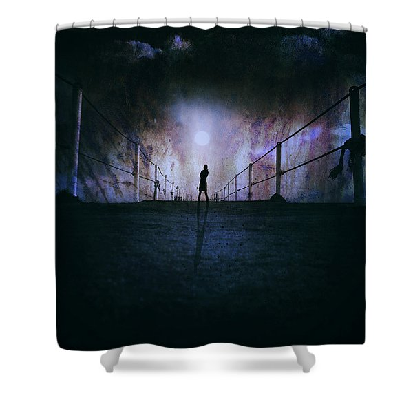 Silent Scream Shower Curtain by Stylianos Kleanthous