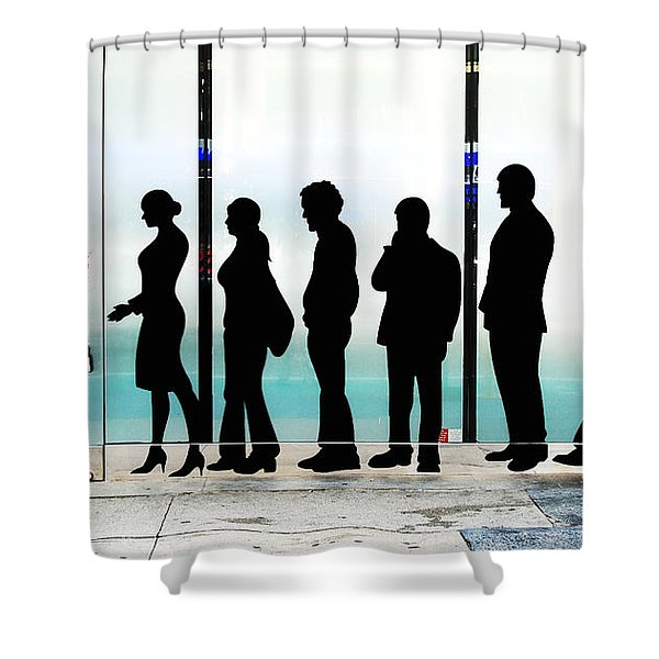 Silhouettes On Broadway Shower Curtain by Allen Beatty