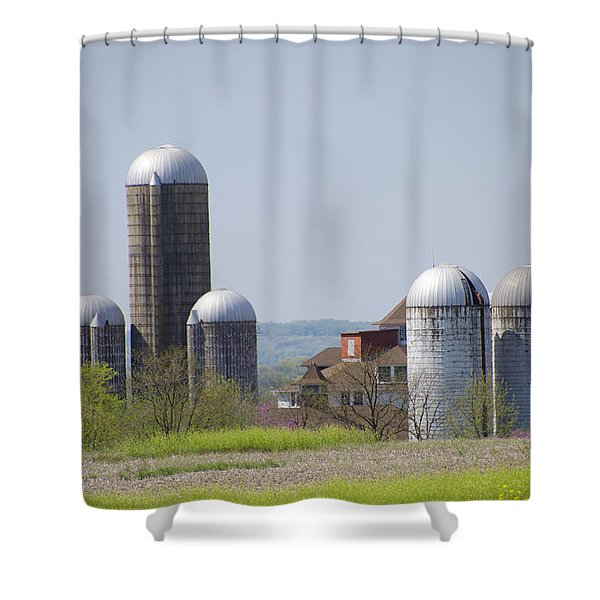 Silos - Norristown Farm Park Shower Curtain by Bill Cannon