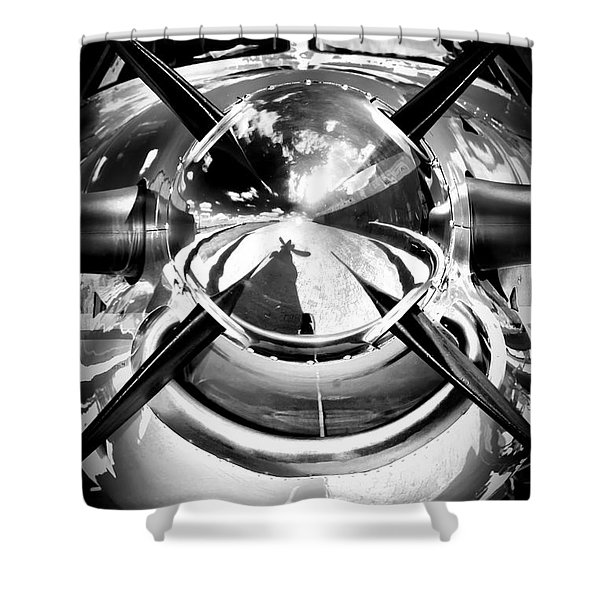 Silver 12 Shower Curtain by Paul Job