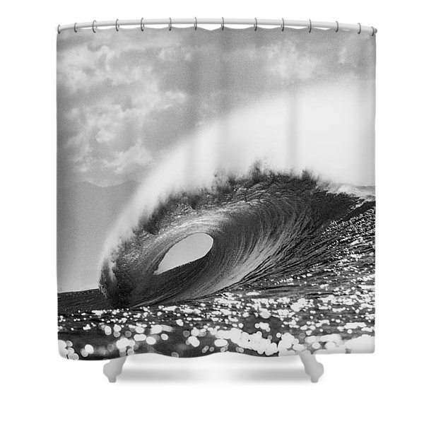 Silver Peak Shower Curtain by Sean Davey