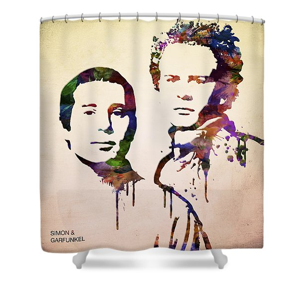 Simon And Garfunkel Shower Curtain by Aged Pixel