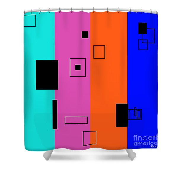 Simple Color 2 Shower Curtain by Eloise Schneider