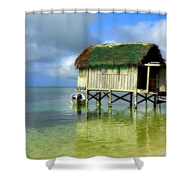 Simple Solitude Shower Curtain by Karen Wiles