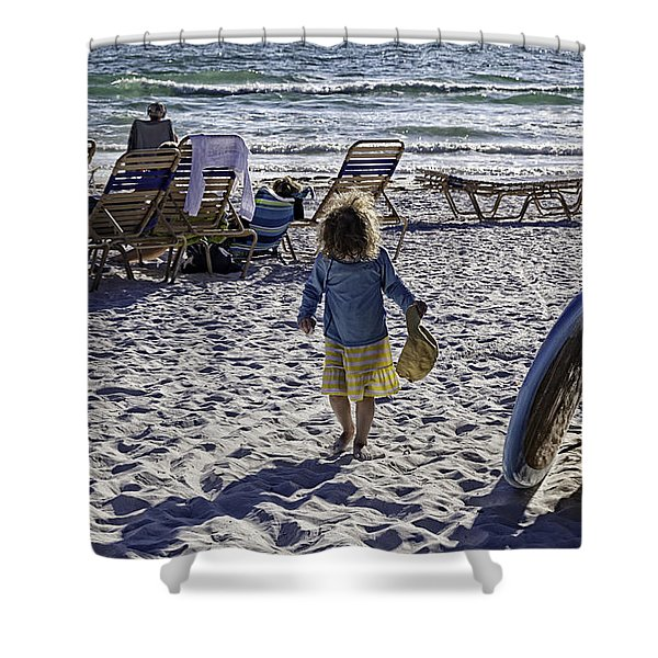 Simpler Times 2 - Miami Beach - Florida Shower Curtain by Madeline Ellis