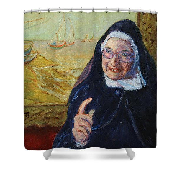 Sister Wendy Shower Curtain by Xueling Zou