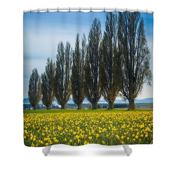 Skagit Trees Shower Curtain by Inge Johnsson